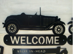 32 Ford convertible welcome sign