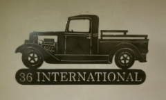 36 International pickup sign