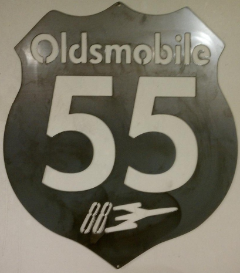 55 Oldsmobile sign