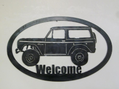 Early Bronco welcome sign