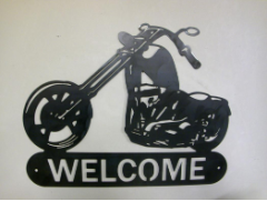 Chopper welcome sign
