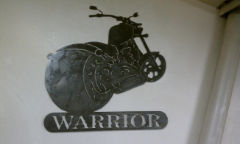 Custom chopper sign