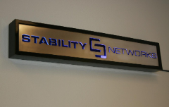 Custom Stability Networks sign