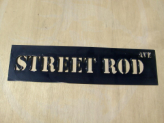 Street Rod Ave Street Sign