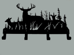 Whitetail Deer Coat Rack