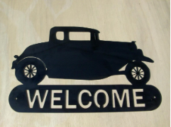 32 Ford coupe welcome sign