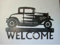 Model A Hot Rod welcome sign