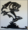 Bass wall hanging in black finish