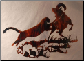 Cougar/Bighorn Sheep wall hanging