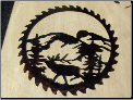 Elk in Saw blade