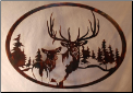 Elk Wall Hanging in Torch finish