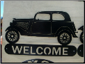 34 Ford Vicky welcome sign