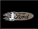 Flaming Ford Sign