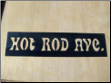 Hot Rod Ave Street Sign