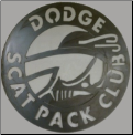 Dodge Scat Pack Club sign